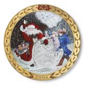 Royal Copenhagen, hearts of Christmas series plate 2006, Hearts of snow