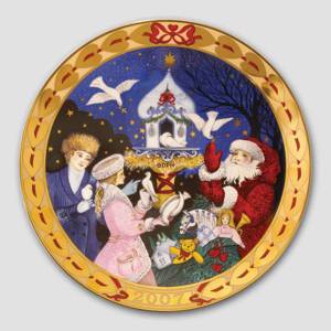 Royal Copenhagen, hearts of Christmas series plate 2007, The Dove of my Hea...