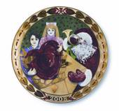 Royal Copenhagen, hearts of Christmas series plate 2008, Christmas Cards