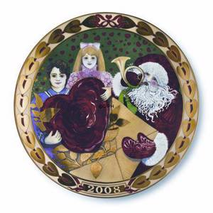 Royal Copenhagen, hearts of Christmas series plate 2008, Christmas Cards | Year 2008 | No. 1917108 | DPH Trading