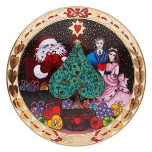 Royal Copenhagen, hearts of Christmas series plate 2010, Celebration of the...