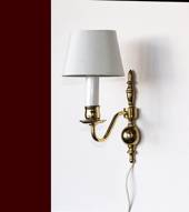 Bracket lamp in bronze with 1 arm