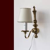 """King Light"" bracked lamp bronze with 1 branch, ornaments"