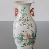 Round Chinese semi antique vase 40cm