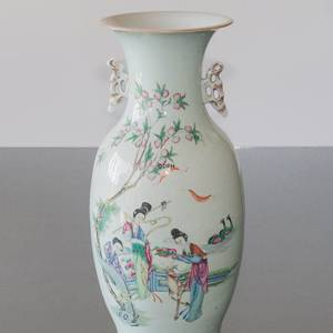 Round Chinese semi antique vase | No. 21701-3 | DPH Trading