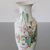 Round Chinese semi antique vase