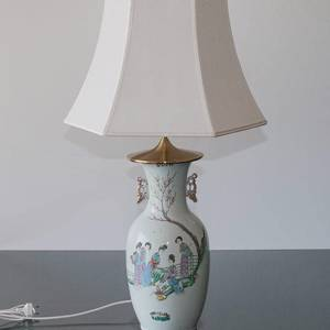 Chinese table lamp, semi antique
