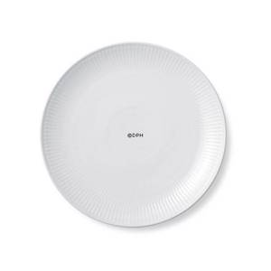White Plain, flat plate, coupe, Royal Copenhagen