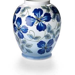 Vase with blue clematis limited, Royal Copenhagen | No. 2470808 | DPH Trading