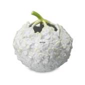 Hydrangea vase, white with green stalk, Royal Copenhagen