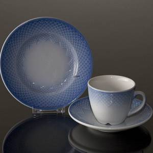 Blue Tone Hotel, Coffee Cup and Saucer ONLY, capacity 12,5 cl., Bing & Grondahl Royal Copenhagen | No. 3-1022 | Alt. 3-744 | DPH Trading