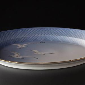 Seagull Service with gold, serving dish, large, Bing & Grondahl Royal Copenhagen 53cm | No. 3-13 | DPH Trading