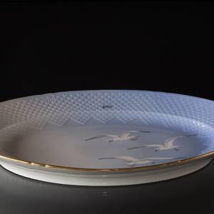 Seagull Service with gold, serving dish, large, Bing & Grondahl - Royal Cop...