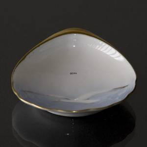 Seagull Service with gold, pickle dish, Bing & Grondahl - Royal Copenhagen
