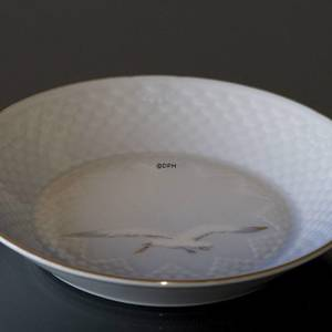 Seagull Service with gold, pickle dish, large, round 14cm
