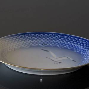 Seagull Service with gold, serving dish, Bing & Grondahl 28cm | No. 3-375 | DPH Trading