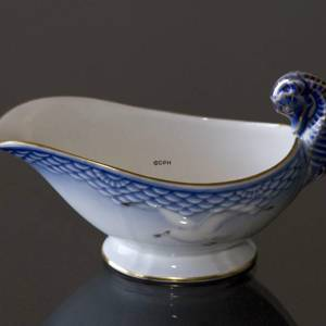Seagull Service with gold, sauce boat, small, Bing & Grondahl Royal Copenhagen | No. 3-561 | DPH Trading