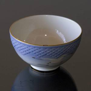 Seagull Service with gold, round bowl