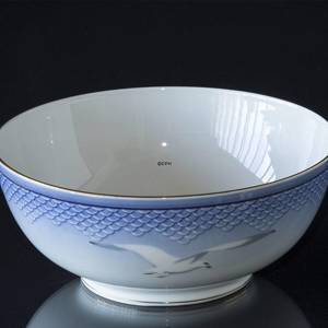 Seagull Service with gold, big round bowl