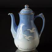 Service Seagull with gold, Coffee pot 150 cl., large