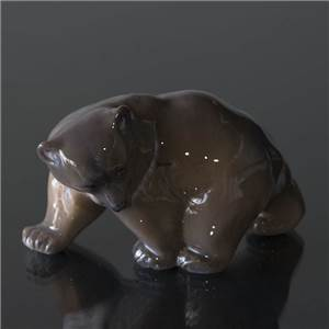 Brown Bear, walking, Royal Copenhagen figurine