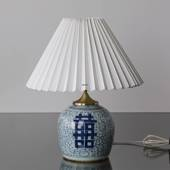 Chinese antique table lamp with Double Happiness
