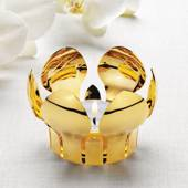 Georg Jensen Tealight holder, Spring Flower, Gilded