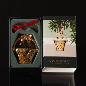 Flower Basket Georg Jensen, Annual Holiday Ornament 2008 | Year 2008 | No. 3411208 | DPH Trading