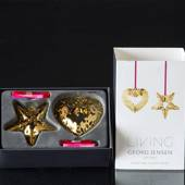 Heart and Star Unite with Misteltoe - Georg Jensen, Annual Holiday Ornament...