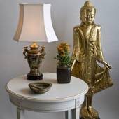 Chinese lamp with golden ears