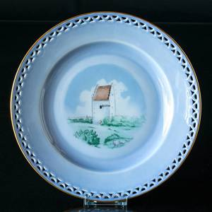 Denmark Dinner set Plate (The Old Church of the Skaw) | No. 3559-325 | DPH Trading