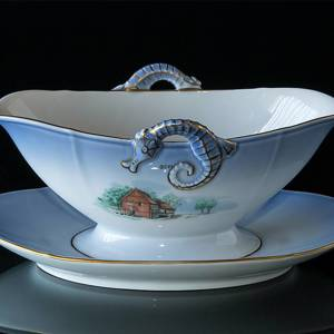 Denmark Dinner set Sauce Boat (Ryds Mill and Esbjerg Beach) | No. 3569-311 | DPH Trading