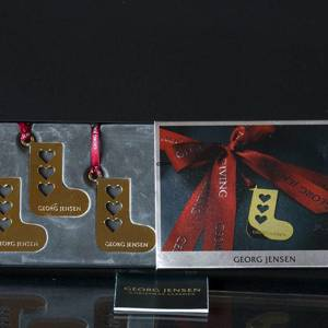 Gift tag, Christmas sock with hearts 3 pcs. Georg Jensen | No. 3581219 | DPH Trading