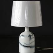 Holmegaard Lamp Art 2 with blue decoration, tablelamp 28 cm - Discontinued