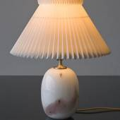 Holmegaard Sakura table lamp, oval with rose stribes, without shade - Disco...