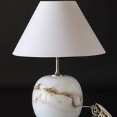 Holmegaard Sakura table lamp, LARGE, round with rose stribes, without shade...