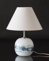Holmegaard Sakura lamp, blue, round, small (without lampshade) 