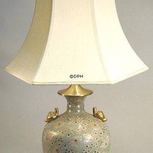 Kutani table lamp with snails