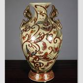 Chinese vase with butterfly