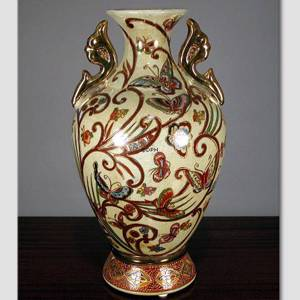 Chinese vase with butterfly | No. 42-117-31-1 | DPH Trading