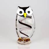 Student Own, Glass Sculpture Owl, 22cm, Glass Art, Hand Blown,