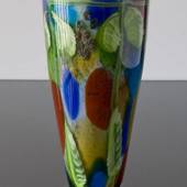 Blue Glass Vase, Large Floor Vase, 42cm, Hand Blown,