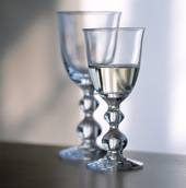 Holmegaard Charlotte Amalie White Wine glass, capacity 13 cl.