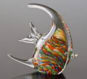 Glass Fish, Rainbow Colour, 20cm, Fisher Gift Idea, Hand Blown,