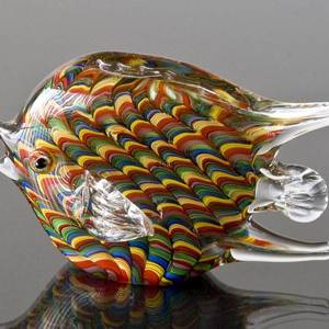 Rainbow Colour Glass Fish, 17cm, Fisher Gift Idea, Hand Blown,