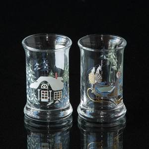 Holmegaard Christmas Dram Glasses 1998, set of 2 | Year 1998 | No. 4324039 | DPH Trading