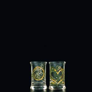 Holmegaard Christmas Dram Glasses 2005, set of 2 | Year 2005 | No. 4324046 | DPH Trading