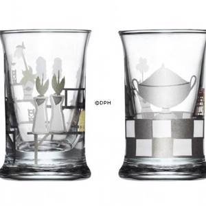 Dram Glasses 2008, set of 2. Holmegaard Christmas | Year 2008 | No. 4324049 | DPH Trading