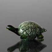 Green Turtle, Letter Press, Hand Blown Glass Art, Hand Blown,