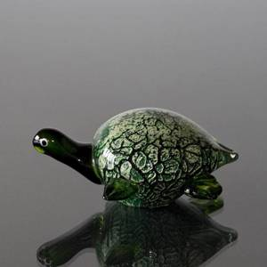Green Turtle, Letter Press, Hand Blown Glass Art, Hand Blown, | No. 4340 | DPH Trading